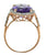Amethyst White Topaz Solid 10k Rose Gold Designer Ring Jewelry - YoTreasure