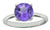 Natural Round Purple Amethyst Solid 925 Sterling Silver Ring Jewelry - YoTreasure