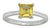 Yellow Citrine 925 Sterling Silver Promise Ring - YoTreasure