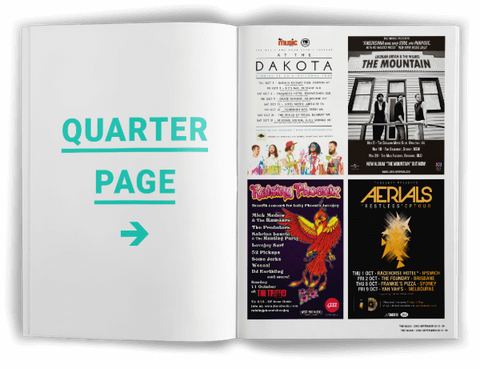 Quarter Page Ad - The Music