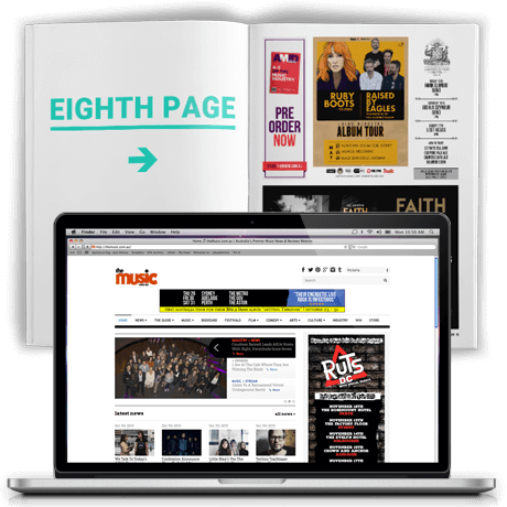Eighth Page Ad + Online Ad - Indie Special Package