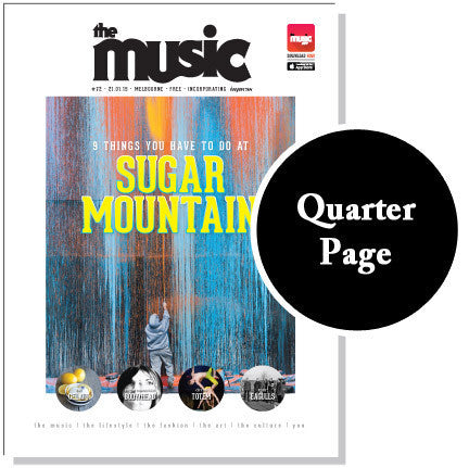 Quarter Page Ad - The Music Fringe Festival Guide