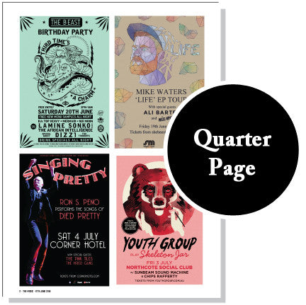 Quarter Page Ad + Online Ad - Indie Special Package