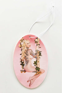 Sabina Kelley - Air Freshener - Peach - Pink Swing