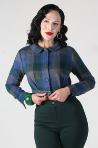 Belmont Jacket In Green & Blue Plaid