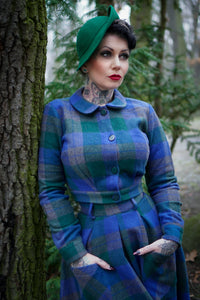 Belmont Skirt In Green & Blue Plaid