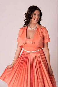 Clementine Vintage-inspired Fit & Flare Dress With Matching Embroidered Bolero