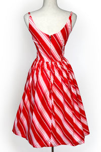 The Sandra Dress in Candy Stripe Print