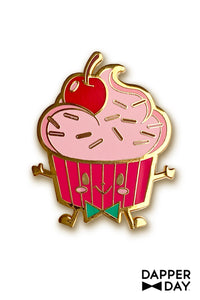 Yumerz Cherry Cupcake Pin by Dapper Day for Tatyana