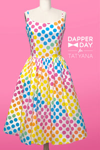 Sandra Dress in Dot Candy Print