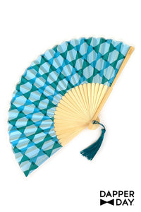 Fan in Blue Lagoon Bow Ties Print