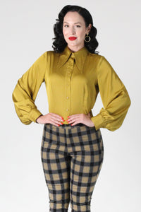 Willow Blouse In Chartreuse