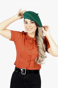 Beret in Dark Green