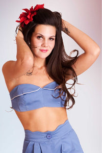 Bra Top Blue