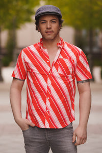 The Harvey Shirt in Candy Stripe Print
