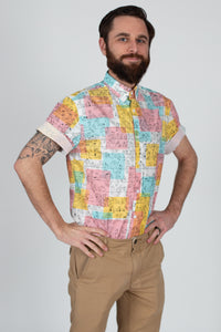 The Harvey Shirt in Birds of a Feather Print
