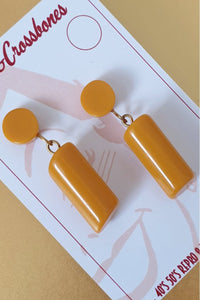 Bow & Crossbones - Heddy Earrings Mustard
