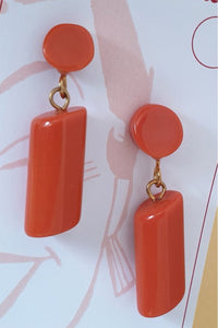 Bow & Crossbones - Heddy Earrings Orange