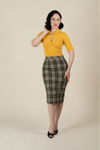 Millie Retro Skirt In Plaid