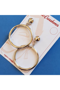 Bow & Crossbones - Monroe hoop earrings - Silver