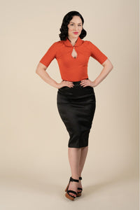 Salem Retro Skirt In Black