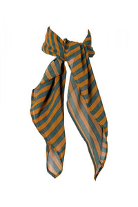 Scarf with Green and Yellow Stripes