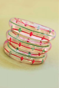 Bow & Crossbones -South Of The Border Retro Fakelite Lucite Bracelet
