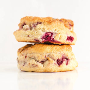 Raspberry & White Chocolate Scones