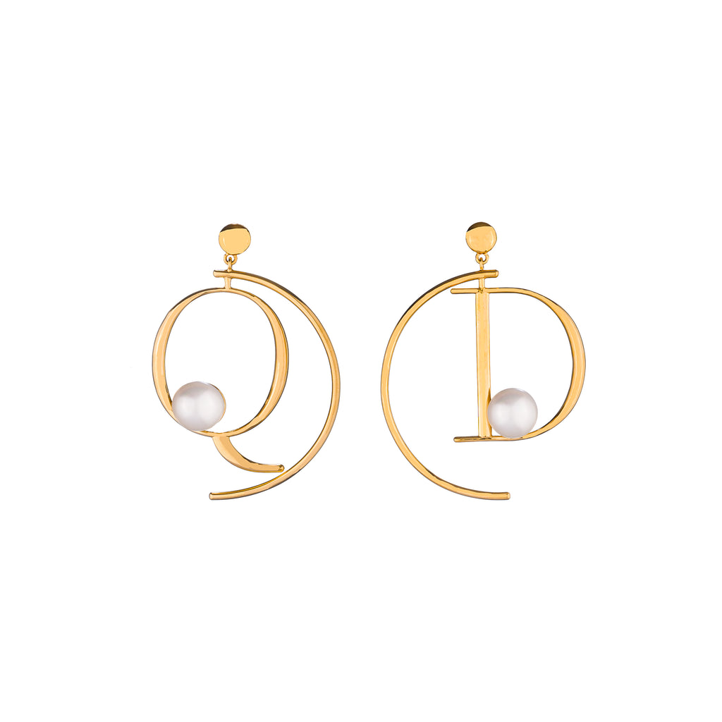 Q+D Half Hoop Earrings