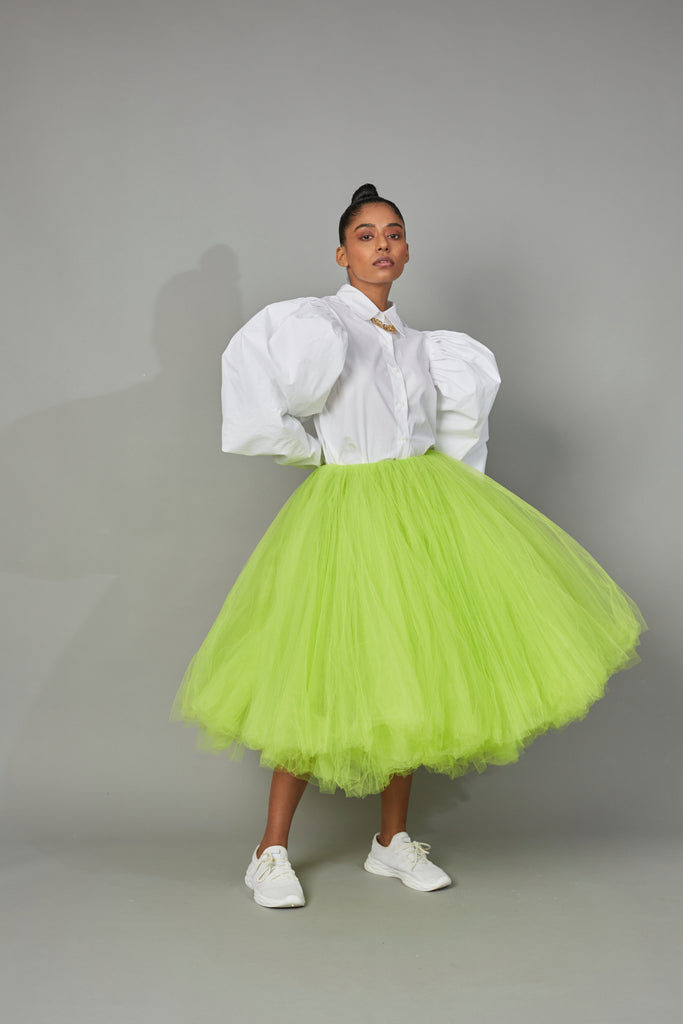 BOTTLE BRUSH TULLE SKIRT
