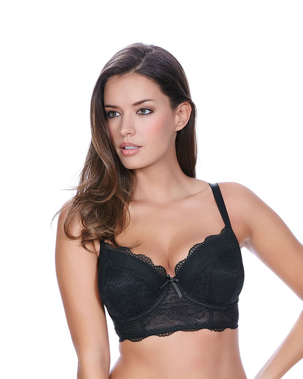 Freya Fancies Padded Longline Bra Black