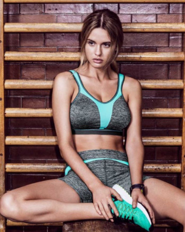 Force Crop Sports Bra: Carbon