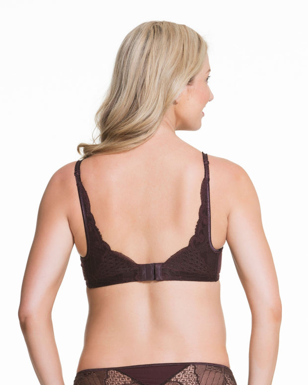 Cake Lingerie Truffles Plunge Moulded Nursing Bra Brown