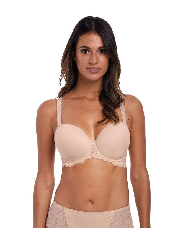 Memoir Moulded Demi Plunge Bra: Natural Beige