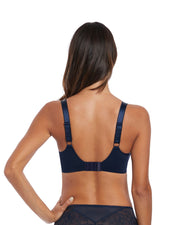 Memoir Full Cup Side Support Bra: Navy
