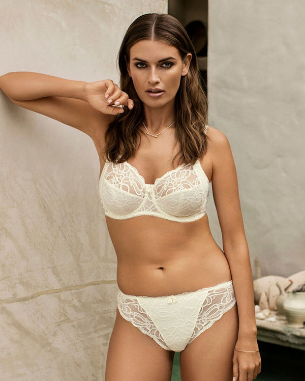 Fantasie Jacqueline Lace Full Cup Side Support Bra Ivory