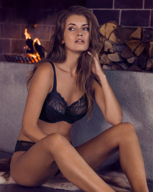 Fantasie Jacqueline Lace Full Cup Side Support Bra Navy