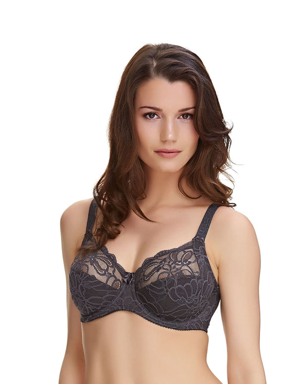 Fantasie Jacqueline Lace Full Cup Side Support Bra Slate