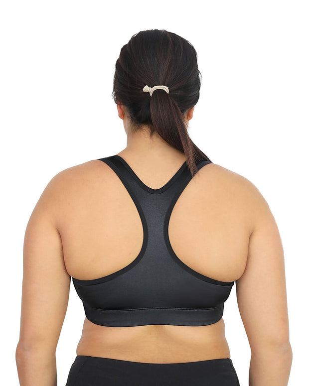 Enell Racer Sports Bra Black