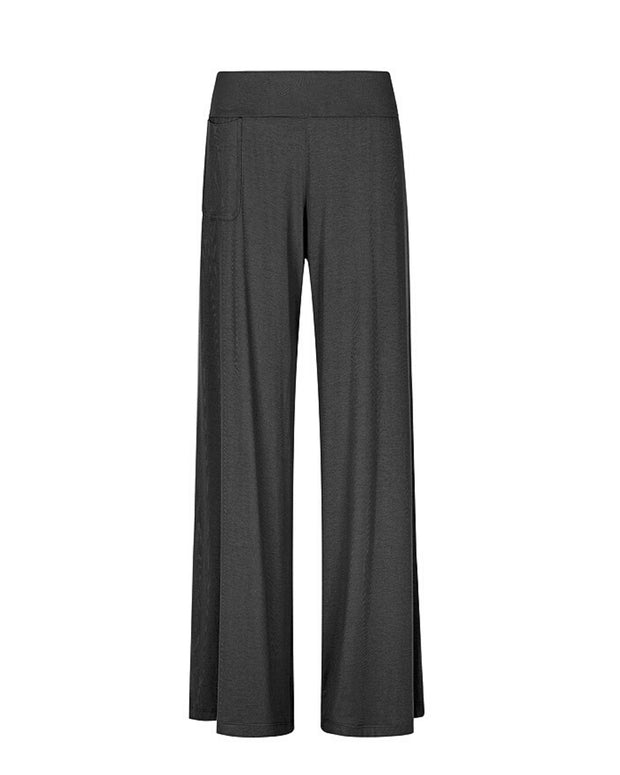 My Cup Runneth Over Chill Out Wide Leg Pant Black Ink