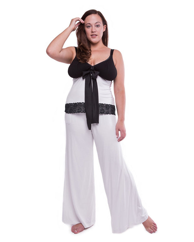 My Cup Runneth Over Chill Out Wide Leg Pant Ice White