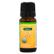 Load image into Gallery viewer, Dynamic Vita® Organic Vitamin D3 Drops