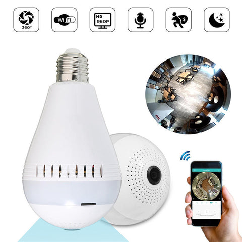 PANORAMIC AMPOULE WIFI-CAMERA 360° FULL HD