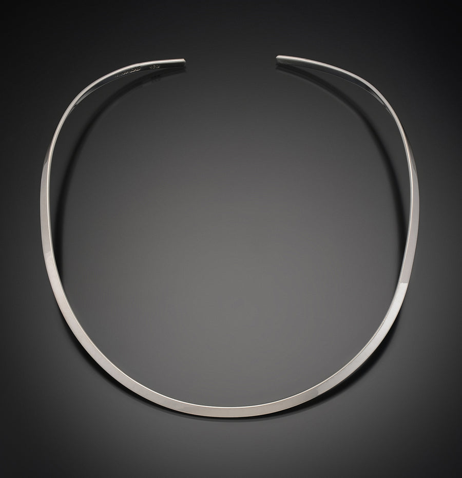 Sterling Silver Thin Round Neckwire