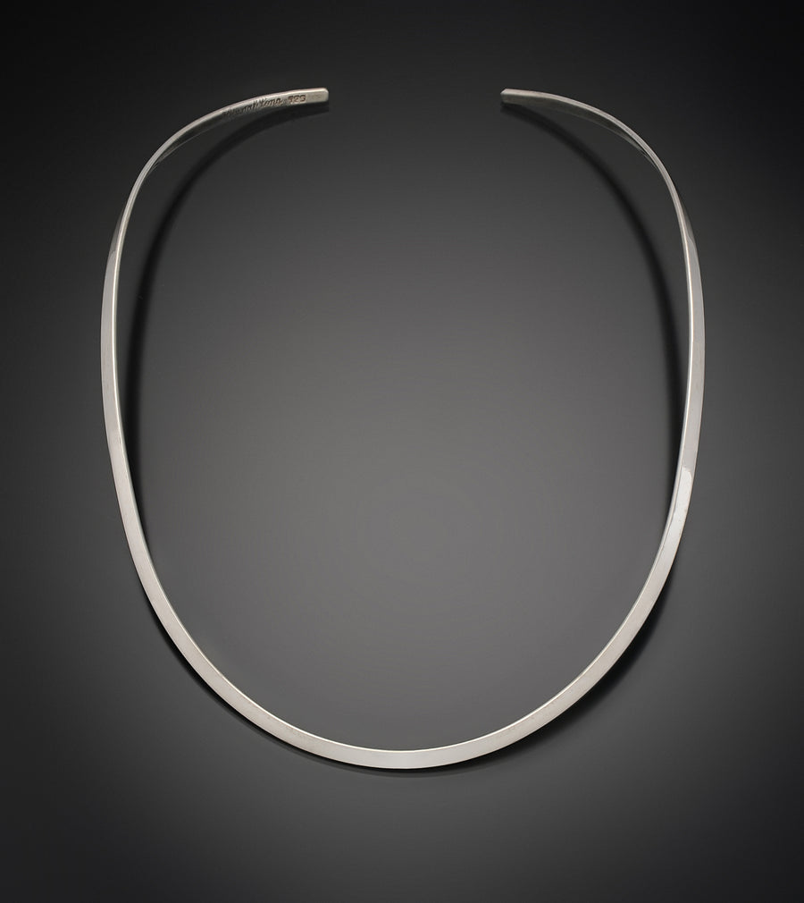 Sterling Silver Thin Oval Neckwire