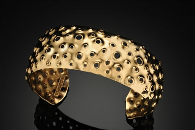 Thin HaLo Gold Reef Cuff