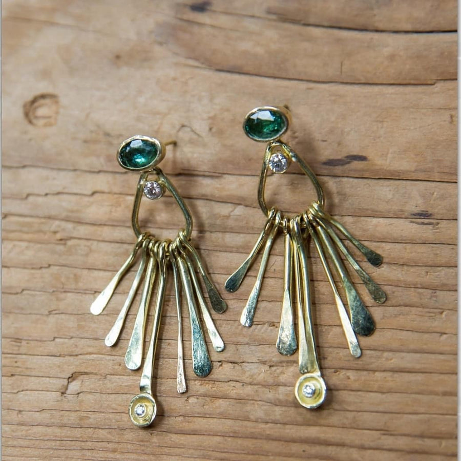 Kinetic Tourmaline Earrings