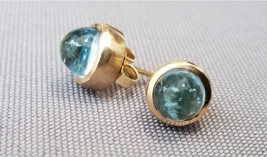 Aquamarine Stud Earrings