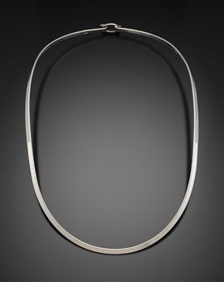 Sterling Silver Thin Oval Neckwire W/Clasp