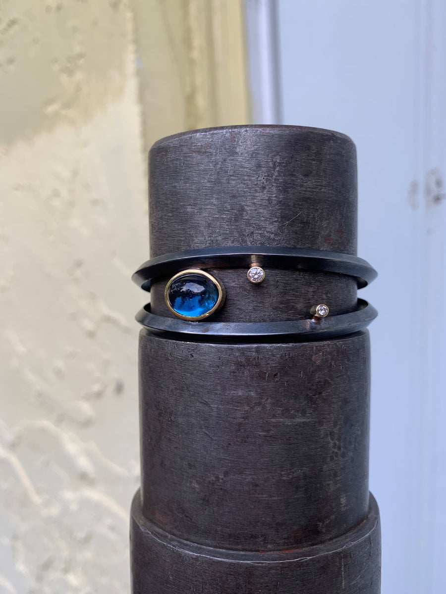 Blue Tourmaline Constellation Cuff